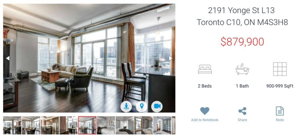 2191 Yonge St - 2 Bedroom Condo for Sale - Yossi Kaplan MBA