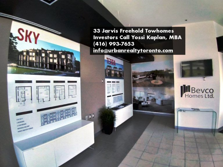 Sales Center for 33 Jarvis Brantford - Freehold Townhomes For Sale by Yossi Kaplan. MBA