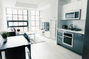 One Bedroom Condo For Sale @ 608 Richmond W - The Harlowe | Living Room - Contact Yossi Kaplan