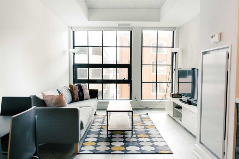 One Bedroom Condo For Sale @ 608 Richmond W - The Harlowe | Living Room 2 - Contact Yossi Kaplan