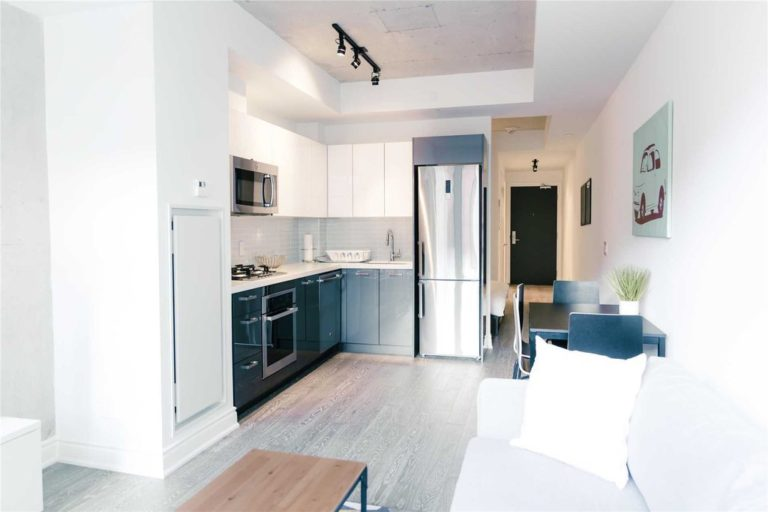 One Bedroom Condo For Sale @ 608 Richmond W - The Harlowe | Living Room 3 - Contact Yossi Kaplan